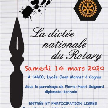 Dictée du Rotary 2020 – Rotary Club de Cognac – Inscription